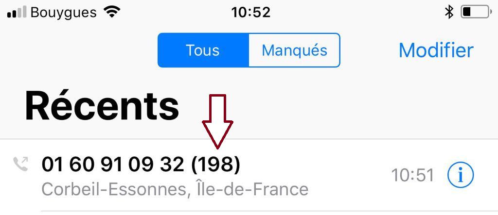 198 tentatives d'appels le matin.